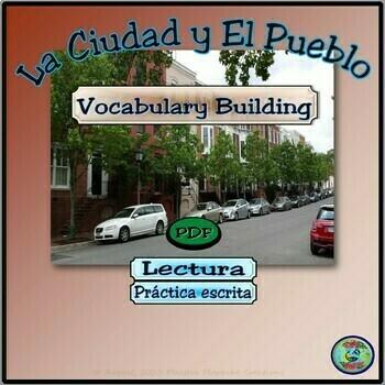 My Town Places To Go Worksheets Mi Pueblo Y Lugares Tpt