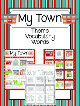 My Town Vocabulary Cards