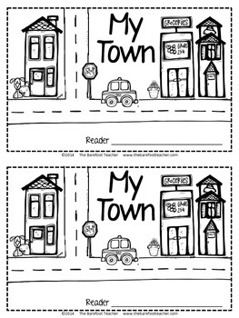 My Town - a Community Emergent Reader {11 pages}