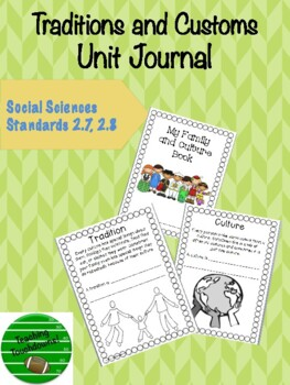 My Traditions and Customs Unit Journal