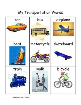 My Transportation Words