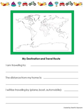 No Prep Travel Journal for Indpendent Study Vacation Projects
