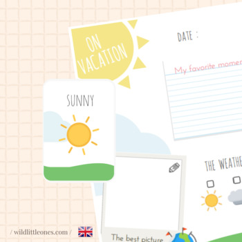 My Travel Journal⎜On vacation⎜Printable Travel Planner ⎜Games and Flash Cards