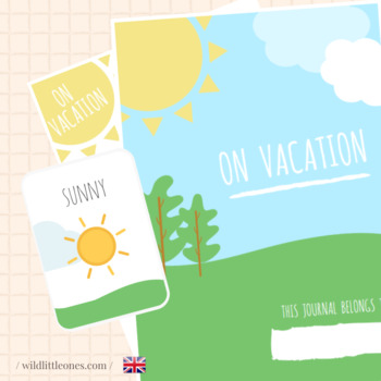 My Travel Journal⎜On vacation⎜Printable Travel Planner ⎜Ga