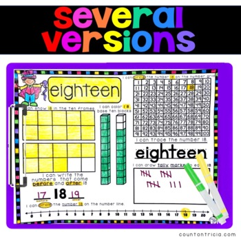 Teen Numbers Journal