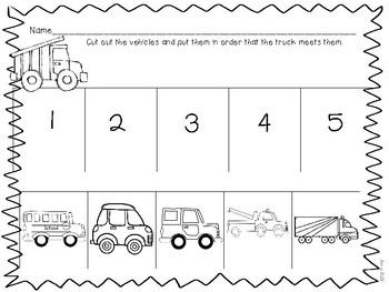 Truck Companion Book Activities for Preschool