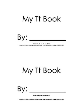 Harcourt Storytown K, lesson 3, My Tt Book-sight word a