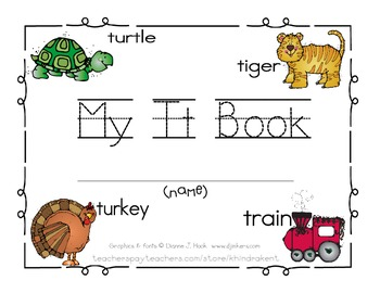 My Tt Book {letter study / sight words can, go, & colors}