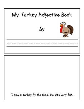 My Turkey Adjective Book