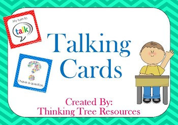 My Turn To Talk and I Have A Question Cards