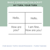 Speech Therapy Social Skills for Younger Students- Basic Conversation Script