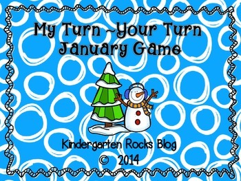 My Turn ~ Your Turn January Letter Game
