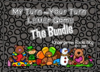 My Turn ~ Your Turn Letter Game Bundled