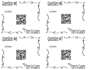 My Turn to Learn QR Cards: Equations with Fractions, Decimals, Mixed Numbers