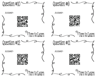My Turn to Learn QR Cards: What Percent of a Number is Another Number