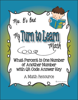 My Turn to Learn QR Cards: What Percent of a Number is Ano