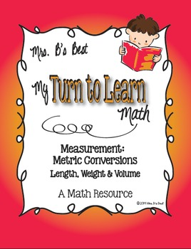My Turn to Learn QR Code Task Cards - Measurement: Metric