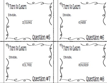 My Turn to Learn QR Code Task Cards: Single-Digit Long Division with Remainders