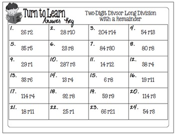 My Turn to Learn QR Code Task Cards: Two-Digit Long Division with Remainders