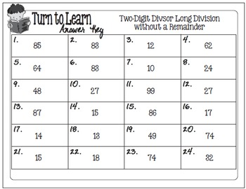 My Turn to Learn Task Cards: Two-Digit Long Division without Remainders