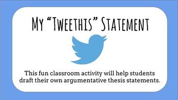 "My ""Tweethis"" Statement"