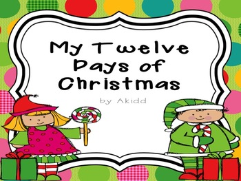Twelve Days Of Christmas Book.My Twelve Days Of Christmas Book