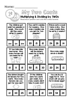 My Two Cents - Multiplication and Division by Two