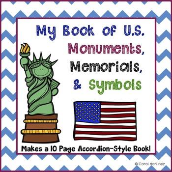 U.S. Monuments, Memorials, and Symbols {Accordion Style Book}