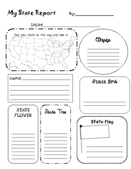My USA State Report