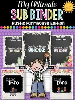 My Ultimate Sub Binder: Rustic Farmhouse Edition