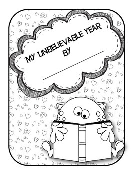 My Unbelievable Year--An End of the Year Printable Monster Themed Memory Book