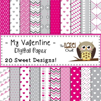 My Valentine Digital Papers: Graphics for Teachers