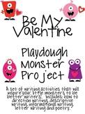 My Valentine Playdough Monster: Writing Activities