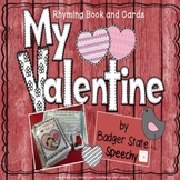 Rhyming Identification Book with Choices and Task Cards Valentines