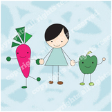 My Vegetable Friends Free Clipart