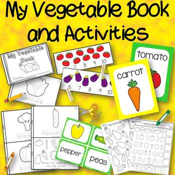 My Vegetables Book and Center Activities