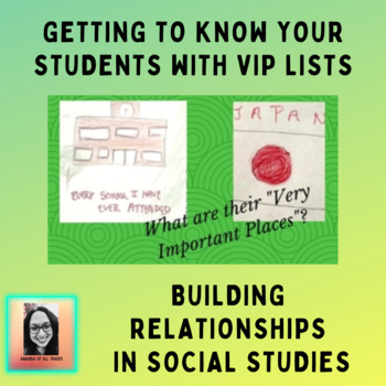 """My Very Important Places: Social Studies """"Getting to Know You"""" Activity"""