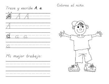 My Very Own Alphabet Book: Spanish (Pre-K to K) D'Nealian Handwriting
