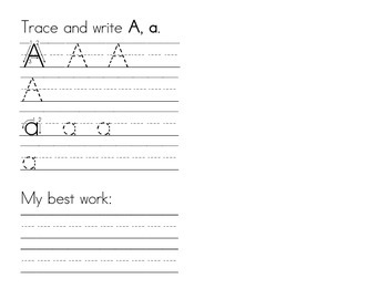 My Very Own Alphabet Book (Pre-K to K)-Manuscript Writing