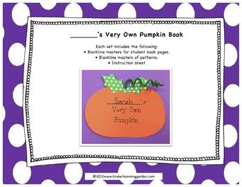 My Very Own Pumpkin Theme Book