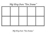 My Very Own Ten Frames - Editable
