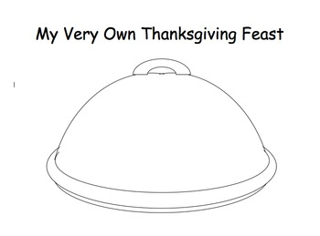 My Very Own Thanksgiving Feast Book