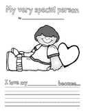My Very Special Person Valentine's Day Writing Primary