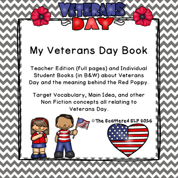 My Veterans Day Book - Informational Text with Resource List