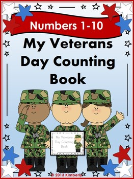 My Veterans Day Interactive Counting Book (Multiple Representation-Numbers 1-10)