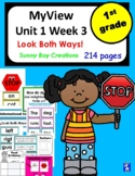 My View Literacy Unit 1 Week 3 First Grade