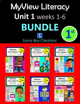 MyView Literacy Unit 1 BUNDLE Weeks 1 - 6 First Grade