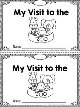 My Visit to the Zoo Booklet