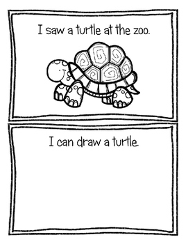 My Visit to the Zoo Themed Book ~ Easy No Prep Book ~ zoo / animal themed unit