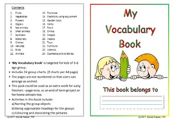 My Vocabulary Book